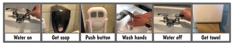 washing sign